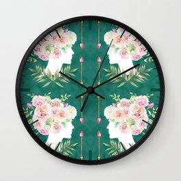 Abstract Roses Fairy Wall Clock