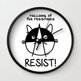 Join the raccoons of the resistance Wall Clock