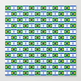Mix of flag : Israel and brazil Canvas Print