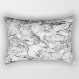 Elegant gray white modern marble texture patterns Rectangular Pillow