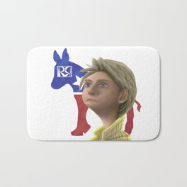 Hillary Clinton Caricature Bath Mat