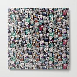 Owl Gem Shrine Metal Print
