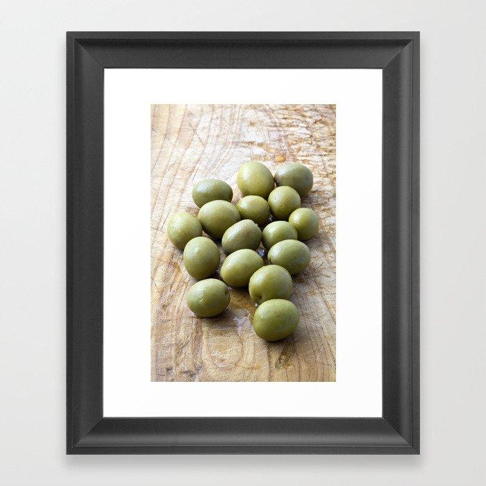 Spanish Manzanilla Olives Framed Art Print