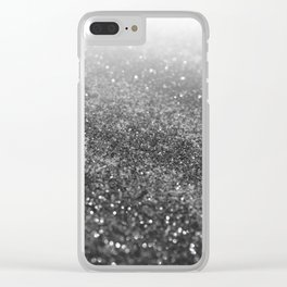 Silver Gray Black Glitter #2 (Faux Glitter - Photography) #shiny #decor #art #society6 Clear iPhone Case