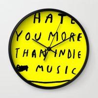 INDIE MUSIC Wall Clock
