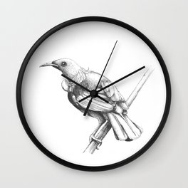 New Zealand Tui Wall Clock
