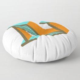 Letter N Floor Pillow