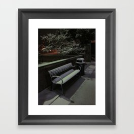 The Cold Bench Waits For A Soul Framed Art Print