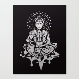 Buddha in lotus position Canvas Print