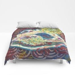 Frog skull Comforters