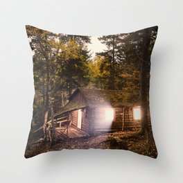 Light of the Cabin Throw Pillow