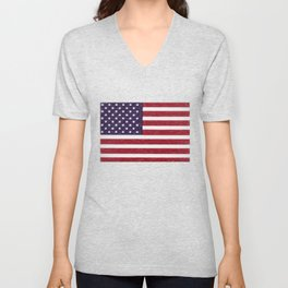 United states national flag - the Crayon and colored pencils version Unisex V-Neck
