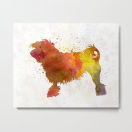 Little Lion Dog in watercolor Metal Print