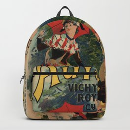 Vintage Auvergne French travel advertising Backpack