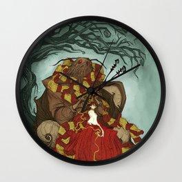 Creature Comforts: Mothman & his Cat Wall Clock