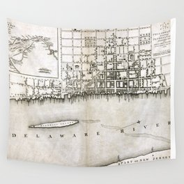 Plan of the city of Philadelphia - 1776  Wall Tapestry