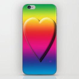 One Heart Rainbow iPhone Skin