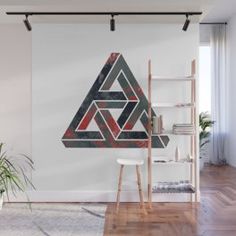 impossible triangle red Wall Mural