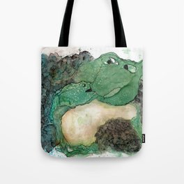 Happy Froggie Mom Tote Bag