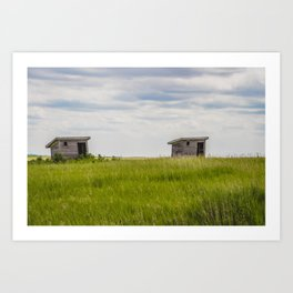 Outhouses at Christiania Township School, North Dakota 3 Art Print