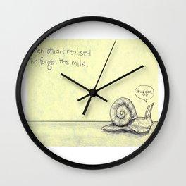 Snail Milk Wall Clock