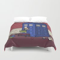 hallion Duvet Covers featuring Who wants to Build a Snowman? by Karen Hallion Illustrations