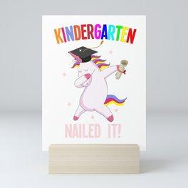 Unicorn Kindergarten managed colorful sweet gift Mini Art Print
