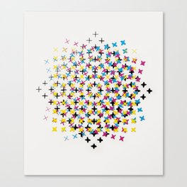 CMYK embroidery Canvas Print
