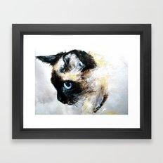 Siamese Cat Unedited Framed Art Print