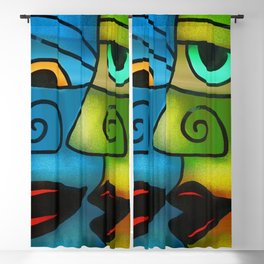 Colors of America - Who Are You? portrait painting Blackout Curtain
