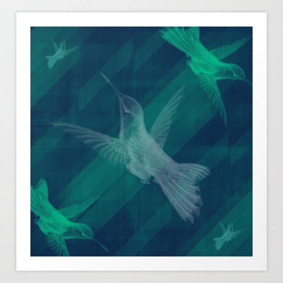 Flight of the Hummingbird Art Print
