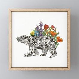Grizzly Flora Framed Mini Art Print