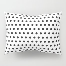 Black white geometrical simple polka dots pattern Pillow Sham
