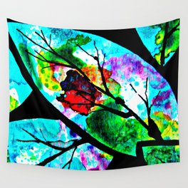 The connection between multicolored atoms Wall Tapestry
