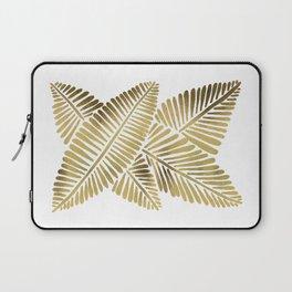 Tropical Banana Leaves – Gold Palette Laptop Sleeve