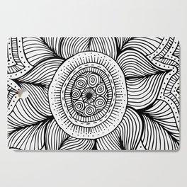 Doodle Flower Cutting Board