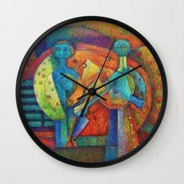 Two Figures by Rufino Tamayo Wall Clock