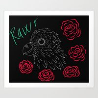 "The parrot goes ""Rawr"" Art Print"