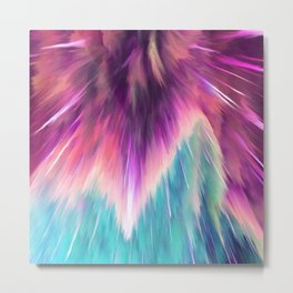 Colorful Space Explosion Metal Print