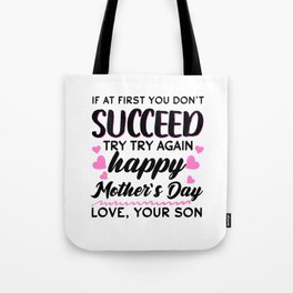 Gift Idea Mother's Day Son Gift Tote Bag