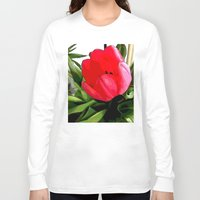 tulip Long Sleeve T-shirts featuring Tulip by Mr & Mrs Quirynen