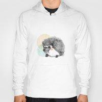 hedgehog Hoodies featuring Hedgehog by Wood + Ink