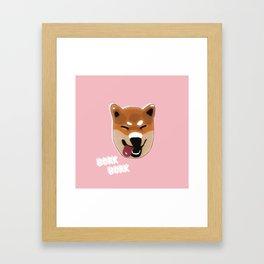 Bork Bork - Shiba Inu Framed Art Print
