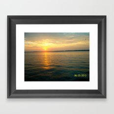 Lake Erie Sunset  Framed Art Print