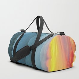 Mountain Range Sunset Duffle Bag
