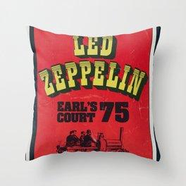 Zeppelin - Vintage Earls Court 1975 Throw Pillow