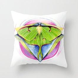 Actias luna - Luna Moth Throw Pillow
