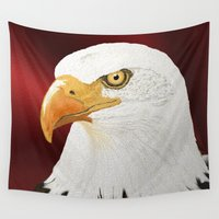 eagle Wall Tapestries featuring eagle by Turul