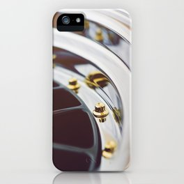 BBS LM w/ Gold Bolts iPhone Case