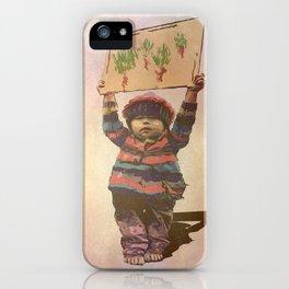 Mensaje de niño iPhone Case